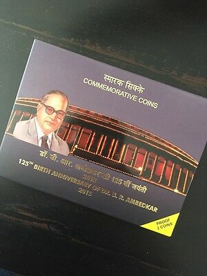 2015 India proof set - 125th Birth Anniversary of Dr. BR Ambedkar - 2 Coin set