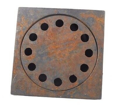 Cast Iron Industrial Floor Drain and Cover D76-402 & D76412 Steampunk Rugged