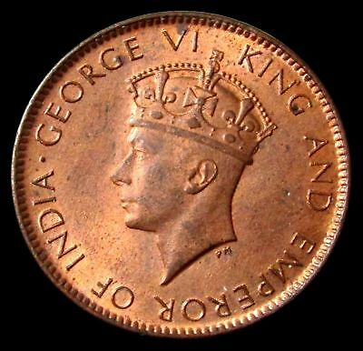 1937 Ceylon King George Vi 1 Cent Coin Red Mint State