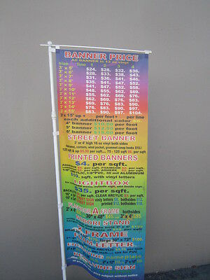 """Banner Pole Nobori Pole Only For Banner Up To 24"""" X 84"""""""