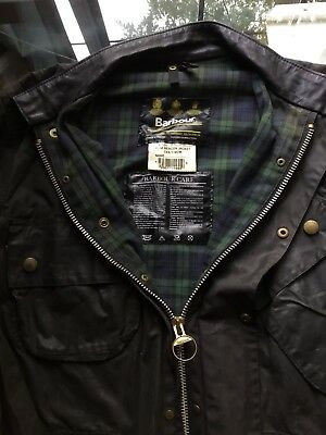 Vintage Waxed Barbour Beacon Motorcycle Jacket Size C44 112M
