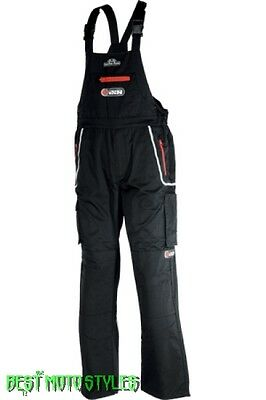 IXS SAN DIEGO Dungarees black Work Wear trousers Motorcycle Motorbike Scooter