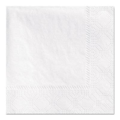 Beverage Napkins, 2-Ply 9 1/2 X 9 1/2, White, Embossed, 1000/carton