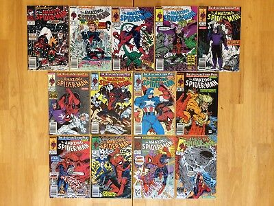 Amazing SpiderMan 314 15 18 19 20 21 22 23 24 24 26 27 28 Todd McFarlane Lot Run