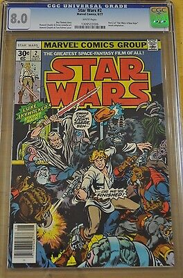 Star Wars #2 Cgc 8.0 Vf White Pages 1978 1St Appearance Han Solo New Movie Jedi