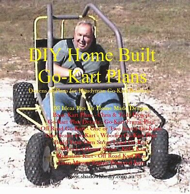 DIY -  Home Built Go-Kart Plans - Printable Plans + 50 Bonus Fiction Titles