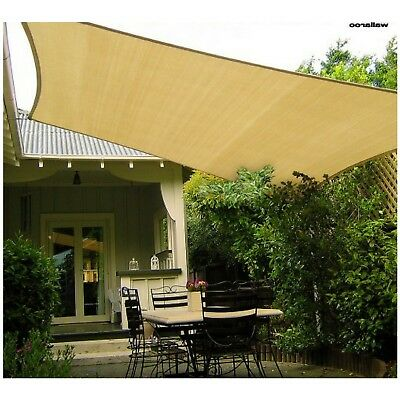 10mx10m Shade Sail Square Outdoor Backyard Large Canopy UV Protection Sand Cloth