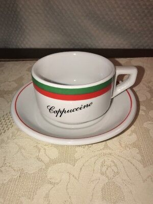 Bia Cordon Bleu Green Red Cuccino Coffee Cup Mug And Saucer New