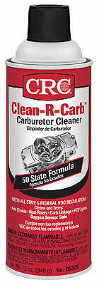 CRC INDUSTRIES Clean-R-Carb Carburetor Cleaner SPRAY 12-oz HOT ROD FREE SHIPPING