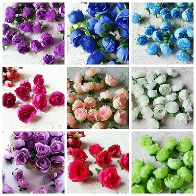 10Pcs Artificial Simulation Rose Silk Flowers Heads Wedding Party DIY Home Decor