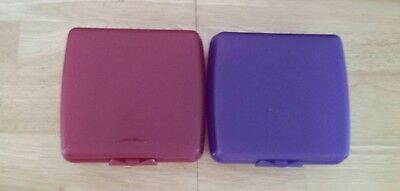 New Tupperware Sandwich Keeper 2 one purple one plum #3752 FREE SHIPPING