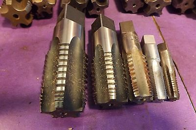 """5 used pieces set of NPT pipe tap made in USA 1/8""""~1"""""""