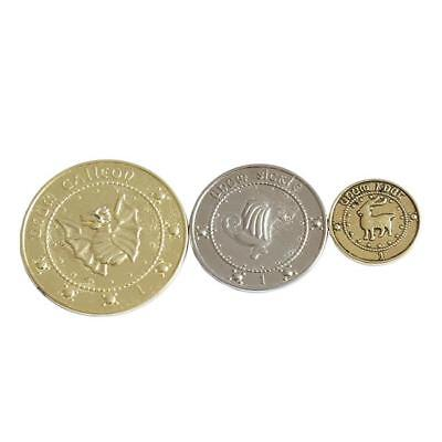 3pcs Harry Potter Gringotts Coin With Collection Galleon Sickle Knut Gift G