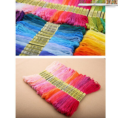 50/100/150/250 Colour Embroidery Thread Cross Stitch Floss Sewing Skeins Cotton