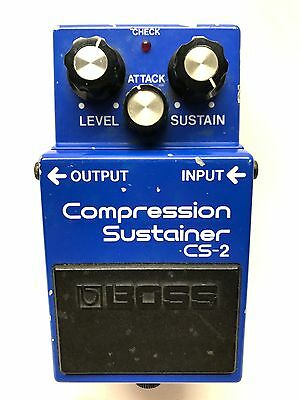 Boss CS-2, Compression Sustainer, Made In Japan, 1982, Guitar Effect Pedal