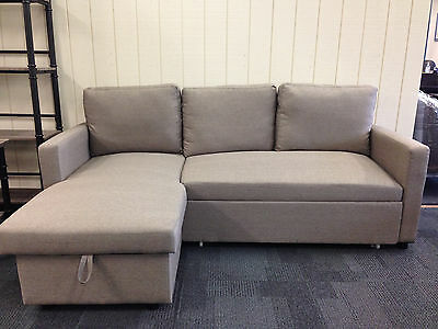 Douglas Three Seater Corner Sofa Bed Chaise Couch Lounge W/ Storage -2 Colours