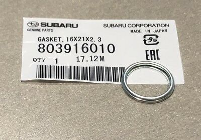 Genuine Subaru Sump Plug Washer Single 803916010 New