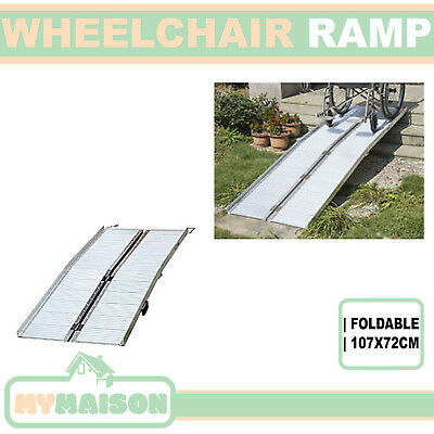 New Foldable Wheelchair Scooter Ramp Aluminium 107X72CM 275KG Capacity