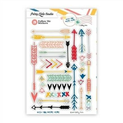 Pretty Little Studio Planner Stickers - No Follow Me  Arrow Wish You Were Here