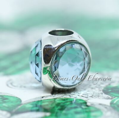 Authentic Pandora Sterling Silver Icy Green Radiant Droplet Charm #792095NIC