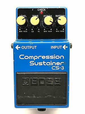 Boss CS-3, Compression Sustianer, Made In Japan, 1986 1ST YEAR PRODUCTION
