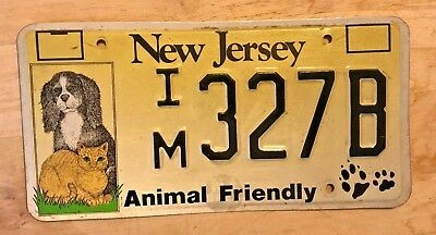 "New Jersey Dog And Cat License Plate  Im 995H "" Nj Dogs And Cats Animal Friendly"