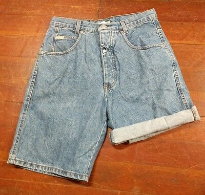 Vtg 80s Guess Jeans High Waisted Shorts Georges Marciano Button Fly 32 Waist USA