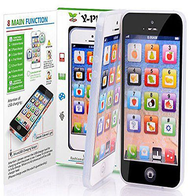 Toy Phone Baby Children's Y-Phone Educational Learning Kids iPhone lightup 4s 5