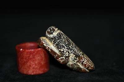 Old Chinese Neolithic HongShan jade Hand carved Amulet Pendant W94