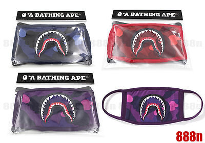 100% authentic A Bathing Ape Bape ABC Camo Shark Face Mask ( US SELLER )