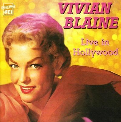 VIVIAN BLAINE - Live in Hollywood CD ** Like NEW Condition ** FREE Shipping!
