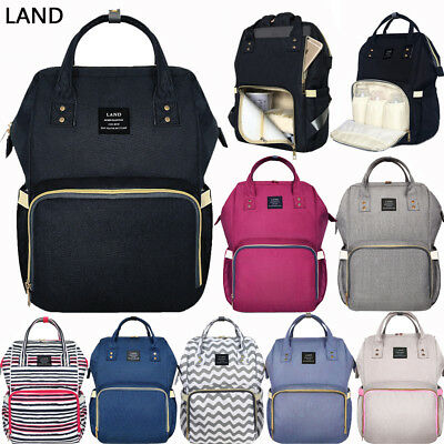 LAND Mummy Backpack Diaper Bags Large Multifunctional Baby Nappy Changing Bag