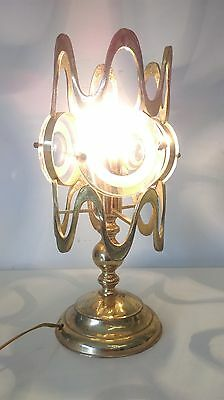 brass table brutalist lamp as stilnovo bonetti garouste nanda vigo