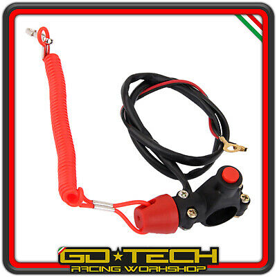 Bottone Stacca Massa Kill Switch Str8 Racing Pista Scooter Moto Atv Quad