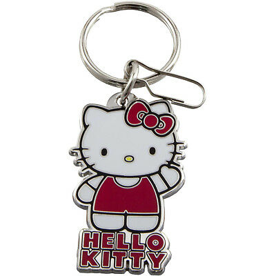 Hello Kitty New Ultimate Quality Metal Key Chain For Girls White/Red