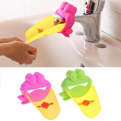 Washing Bathroom Sink Faucet Extender Frog For Children Kid Baby Washing Hand