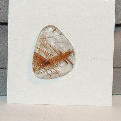 Golden Rutilated Quartz Cabochon 21x16.5mm with 5.5mm dome (12573)