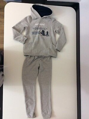 Mayoral Girls Tracksuit, Size Age 8 128cm, Grey, Hoodie, Bottoms, Vgc