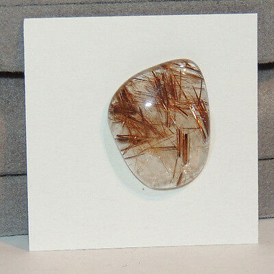 Golden Rutilated Quartz Cabochon 23x18mm with 5.5mm dome (12575)