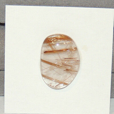 Golden Rutilated Quartz Cabochon 21x15mm with 5mm dome (12590)