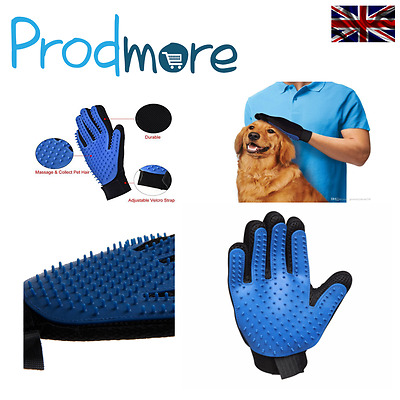 Prodmore True Touch Dog Cat Grooming Deshedding Glove Hair Removal Brush Right