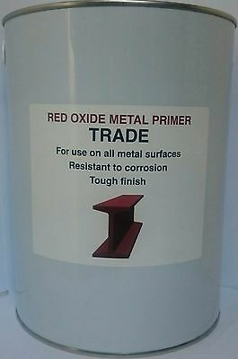5L Primer Paint Red Oxide For Metal -  Boats & Machinery, Uk Made, Tough Finish