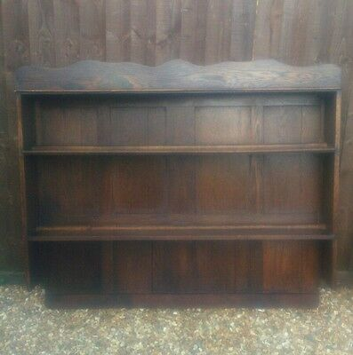 Rustic antique country style oak dresser top, shelves ,display,bookcase,panelled