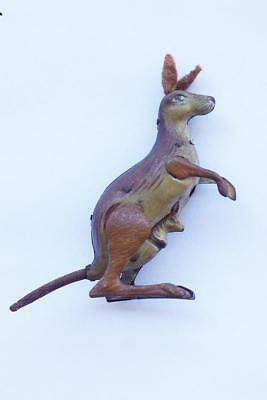 Vintage Tin Toy Kangaroo & Joey Made In Made in US Zone Germany 1940's-50's