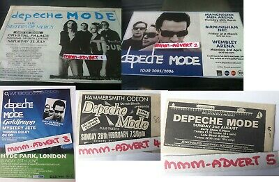 DEPECHE MODE - UK TOUR DATES 2006 - small original magazine advert fridge magnet