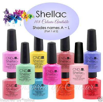 CND SHELLAC GEL UV COLOR~Full CND Range Available~Select your shade*Colours A ~L