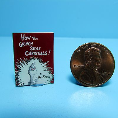 Dollhouse Miniature Replica of Book Dr Seuss How The Grinch Stole Christmas B086