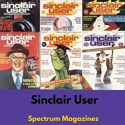 SINCLAIR USER - SU SPECTRUM MAGAZINE 134 ISSUES ZX Spectrum Retro Gaming on DVD