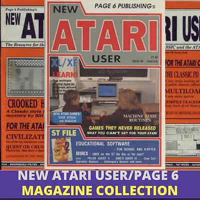 Atari User/Page 6 |MAGAZINE COLLECTION|Vintage Retro Gaming|85 Issues 1 Data DVD