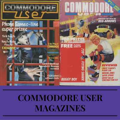 COMMODORE USER MAGAZINE! Collection 77 ISSUES! Vintage, Retro Gaming on DVD-ROM